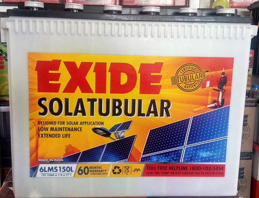 EXIDE 6LMS150L SOLAR BATTERY
