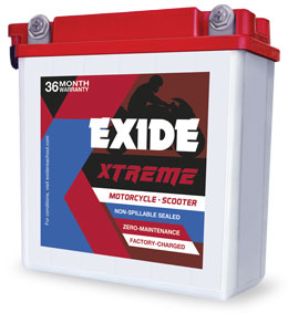 Exide Xtreme 12Xr2.5L-C 2.5Ah Battery