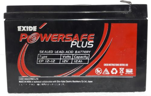 EXIDE POWERSAFE PLUS EP 9-12 EP 1234W 12V 9AH BATTERY
