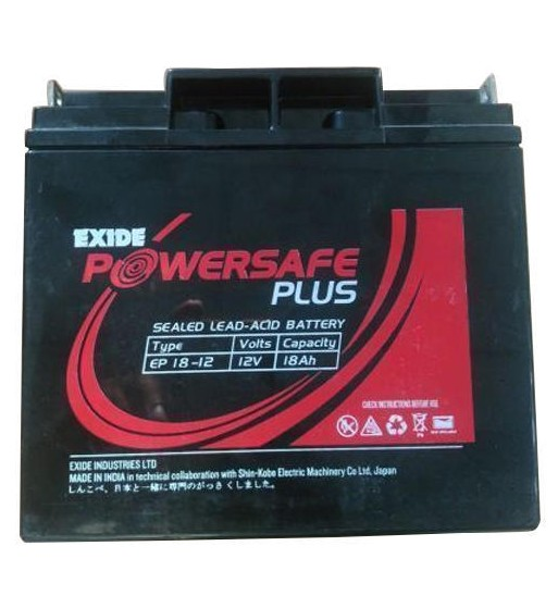 EXIDE POWERSAFE PLUS EP 18-12 12V 18AH BATTERY