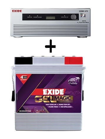 Exide Combo 850Va Home Ups And 150Ah Gel Battery