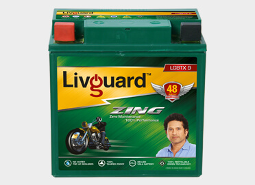 Livguard Zing Lgbtx 9 Two Wheeler Battery
