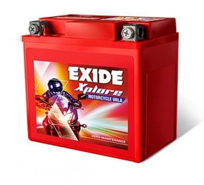 EXIDE XPLORE 12XL5L-B 5AH MOTORCYCLE VRLA BATTERY