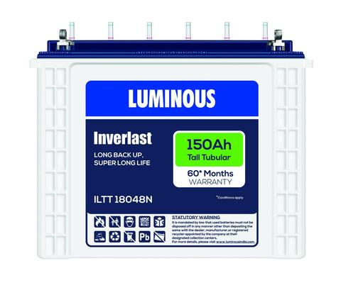 Luminous 12V 150Ah Tubular Battery Iltt18048n 60 Months Warranty