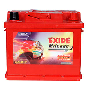 Exide Mileage Mldin44lh 44Ah Battery
