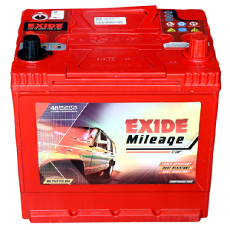 Exide Mileage Red Mred75d23lbh 68Ah Battery