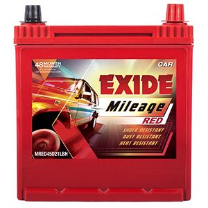 Exide Mileage Red 45ah Battery Mr45d21lbh Buy Exide