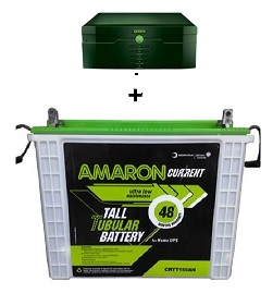 AMARON 880 VA INVERTER WITH AAM-CR-CRTU150AH BATTERY