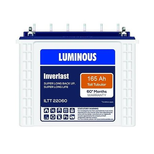 LUMINOUS INVERLAST TALL TUBULAR ILTT 22060 165AH BATTERY