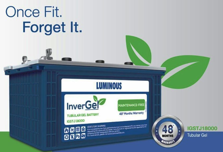 Luminous Invergel Igstj18000 150Ah Tubular Gel Battery