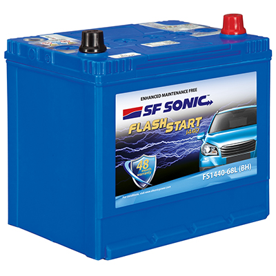 SF SONIC 68AH FS1440-68LBH BATTERY FROM EXIDE