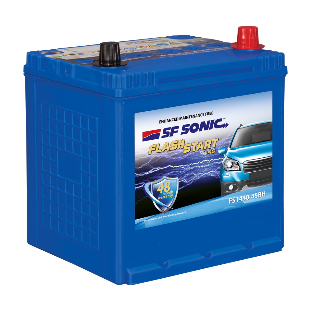SF SONIC FLASH START 45AH FS1440-45BH BATTERY FROM EXIDE