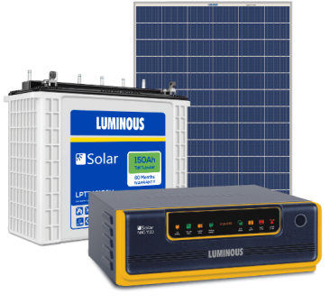 LUMINOUS 850VA OFF GRID SOLAR SYSTEM (850VA + 150AH + 165W)
