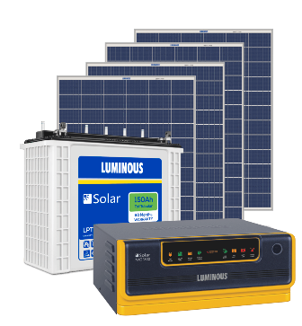 Luminous 1500Va Inverter + (150X2) 300Ah Battery + (250X4) 1000 Watts Panel Solar Combo