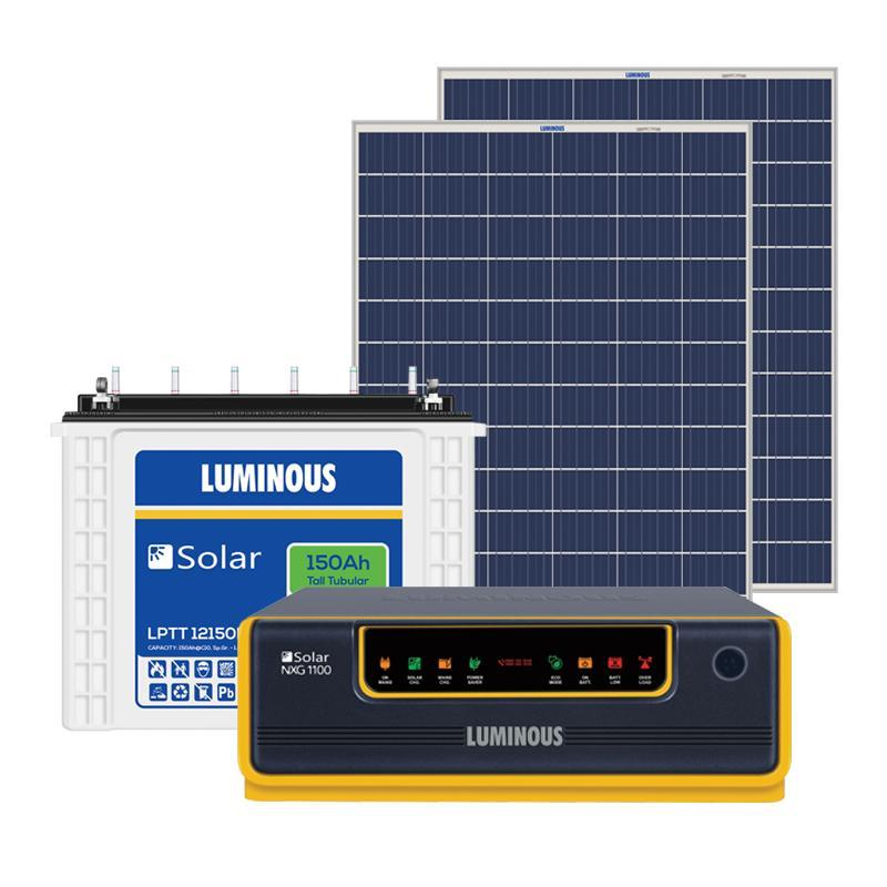 LUMINOUS 850VA OFF GRID SOLAR SYSTEM (850VA + 150AH + 210W)