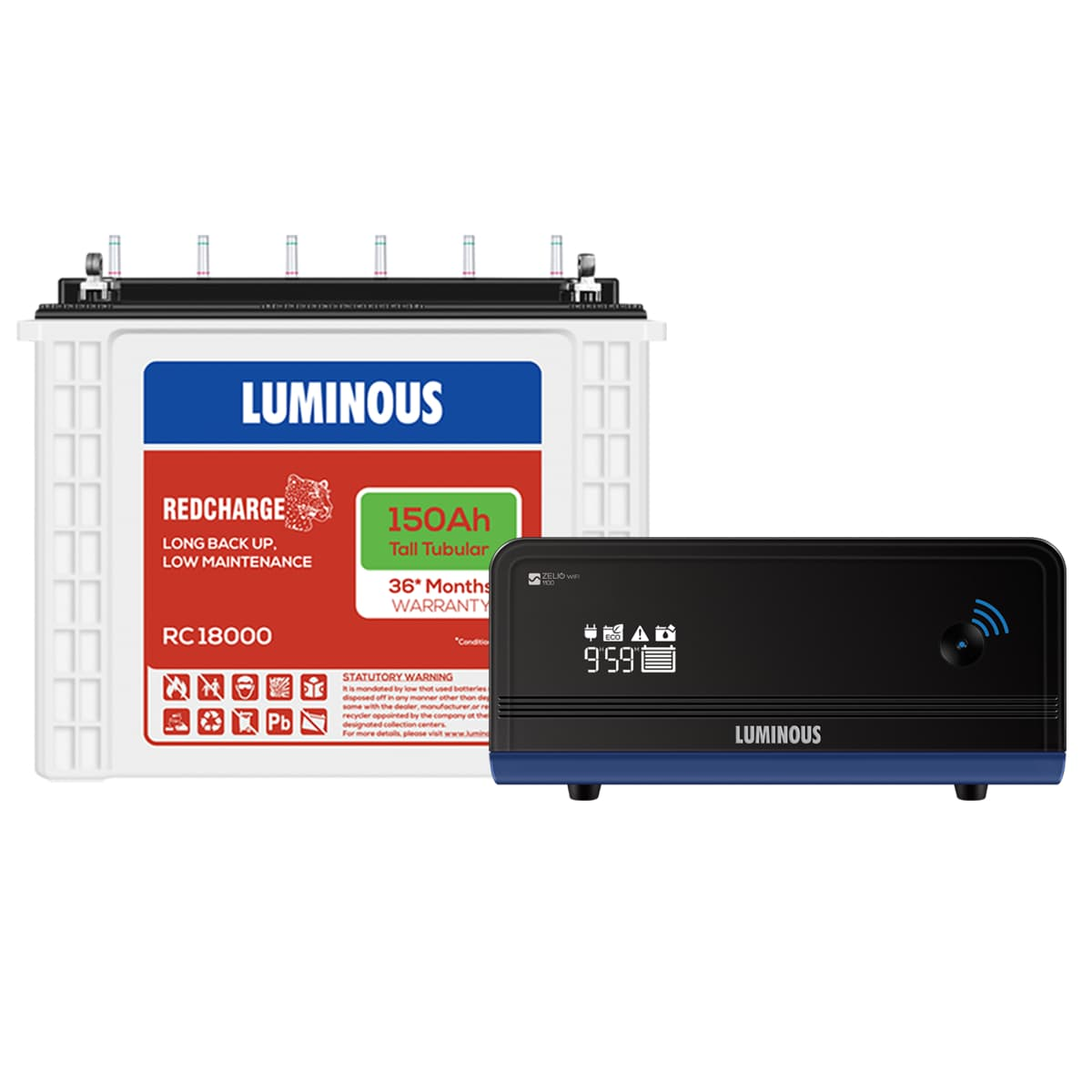 Luminous Zelio Wifi 1100 + Red Charge Rc 18000