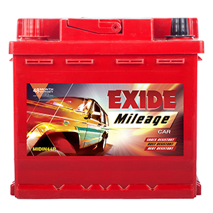 EXIDE MILEAGE MIDIN44R 44Ah Battery