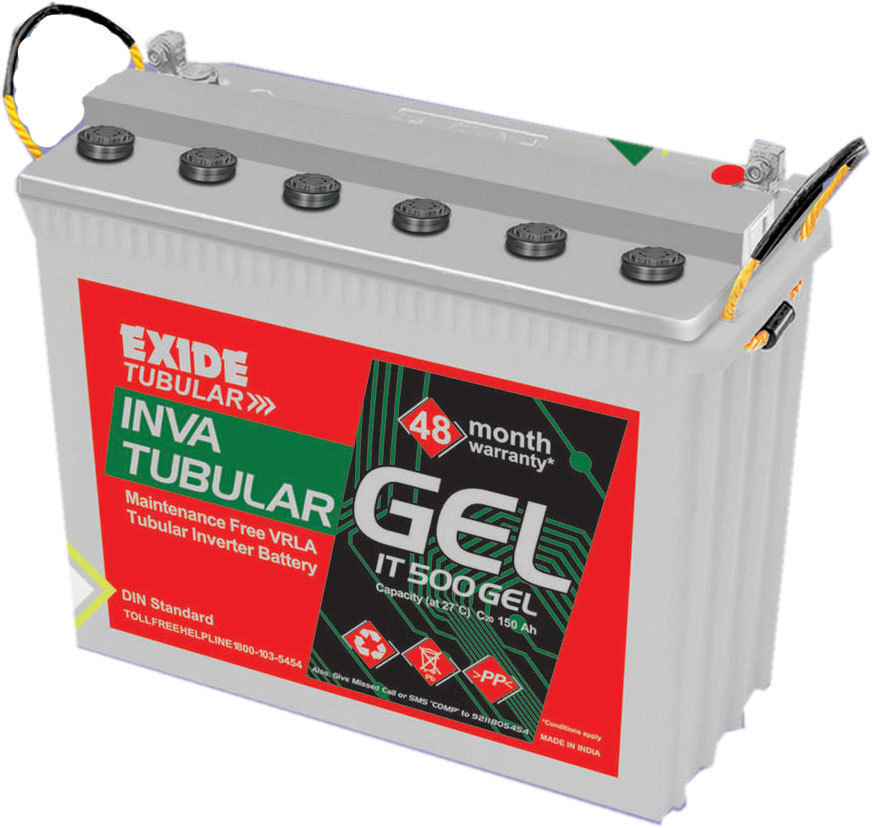 Exide Inva Tubular IT 500 150 AH GEL Battery