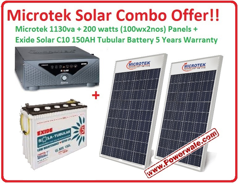 1 1kw Hybrid Solar Kit With 12v 150ah C10 Battery And