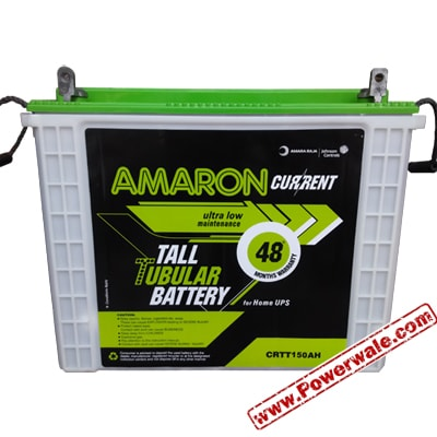 Amaron 12v 150AH CRTT150 Tubular Inverter UPS Battery