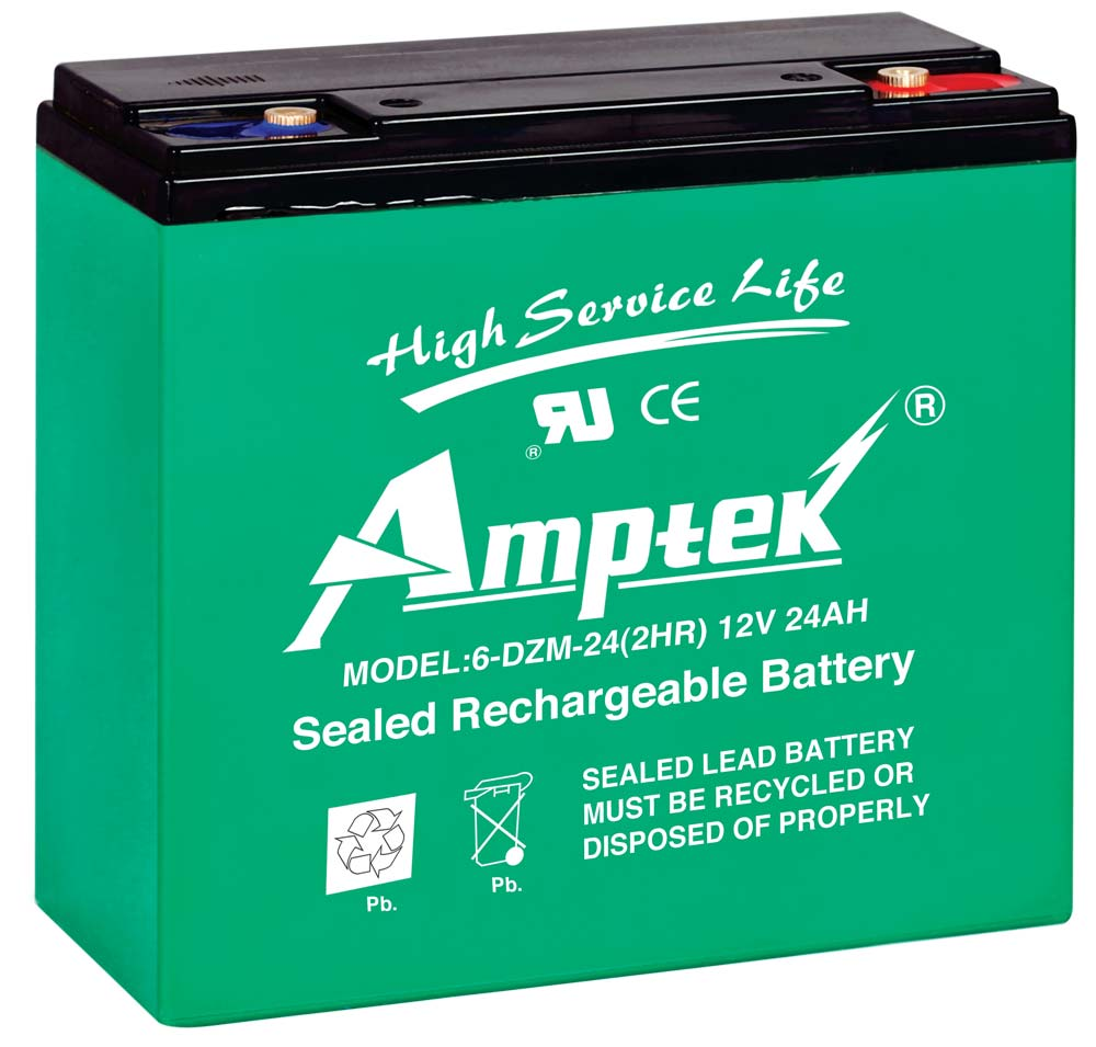 Amptek 12V 24Ah E Bike Battery Pack Of 4 Nos