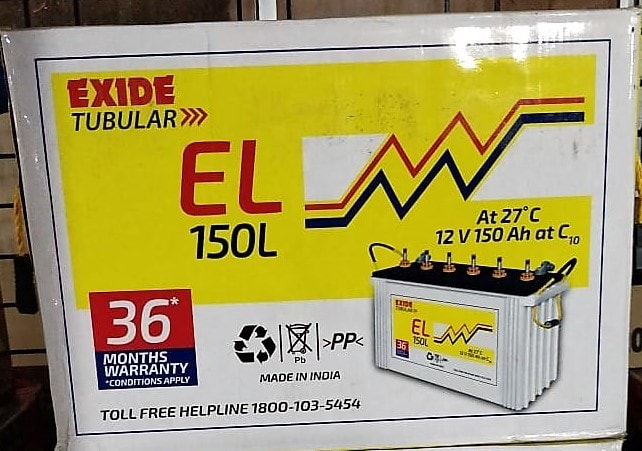 Exide EL 150L Tubular Battery