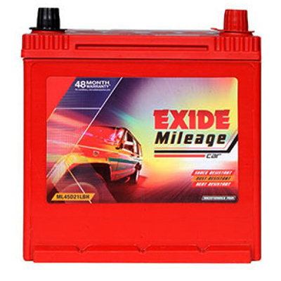 EXIDE MILEAGE ML45D21LBH 45Ah Battery