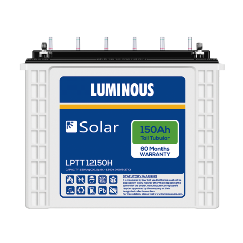 Luminous Tall Tubular Solar 150AH Battery LPT12150H
