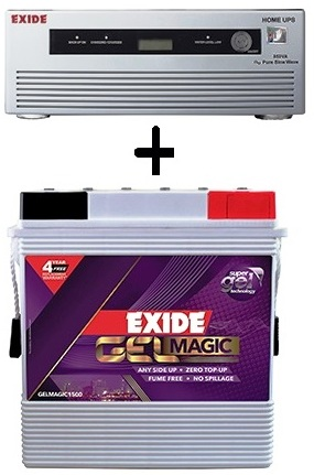Exide 1050va ups with 150AH Gel Maintenance Free Battery