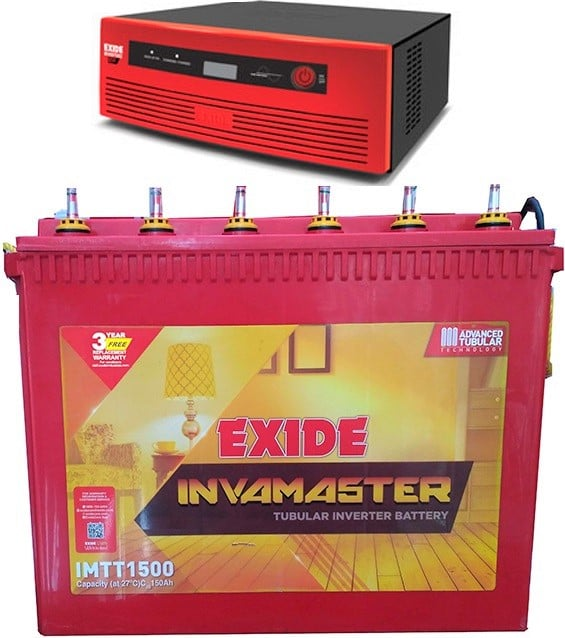 Exide 650VA Home UPS with 150AH Tall Tubular Battery