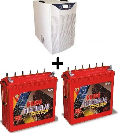 Exide 2KVA with 2 Nos 150AH Tall Tubular batteries