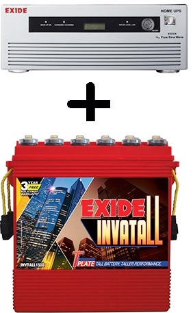 Exide 850VA Home UPS with Exide Invatall 150AH Battery
