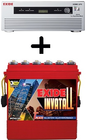 Exide Home UPS 1050VA with Exide Invatall 150AH Battery