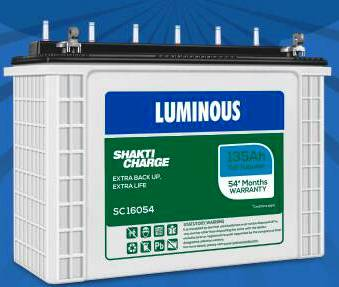 Luminous Shakti Charge SC16054 135AH Smart Tall Tubular Battery