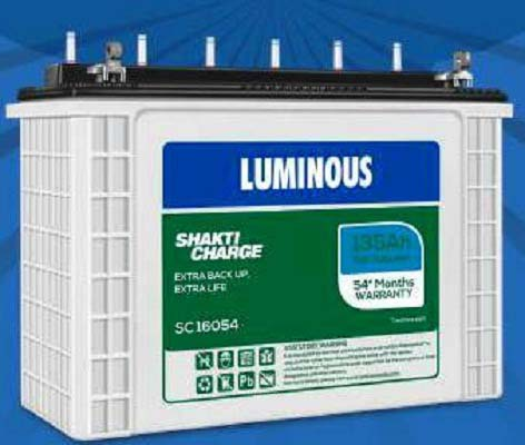 Luminous Shakti Charge SC12054 110AH Smart Tall Tubular Battery