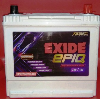 Exide EPIQ 75D23LBH Maintenance Free Battery