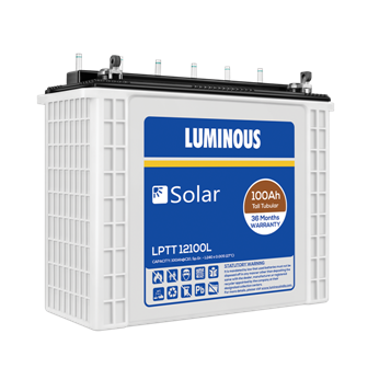 Luminous Solar 100AH Tall Tubular LPTT 12100L Battery