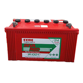 Exide InvaRed IR100+ Tubular 100AH Battery