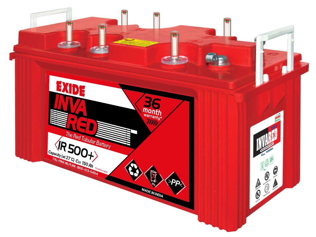 Exide InvaRed IR500+ Tubular 150AH Battery