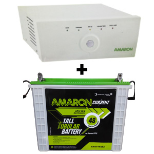 Amaron Home 880VA UPS + CRTT150 150AH Battery Combo