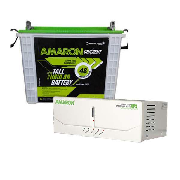Amaron Home 880VA UPS + CRTT165 165AH Battery Combo