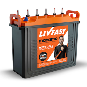 Livfast Maxximo MXTT 2342 200AH Tall Tubular Battery