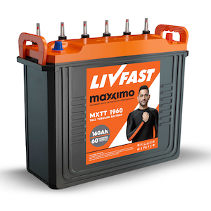 Livfast Maxximo MXTT 1960 160AH Inverter Battery