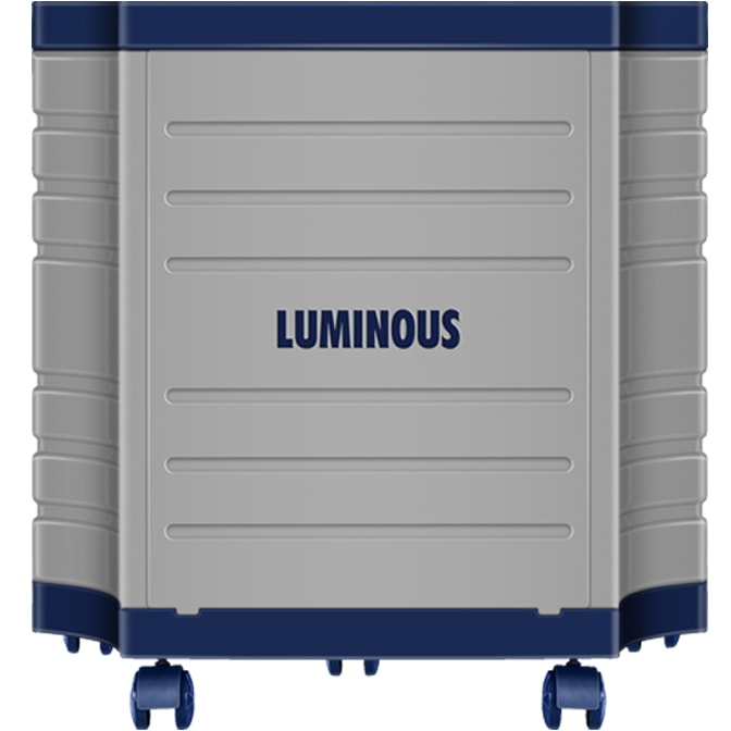 Luminous Double Tall Tubular Battery Trolley