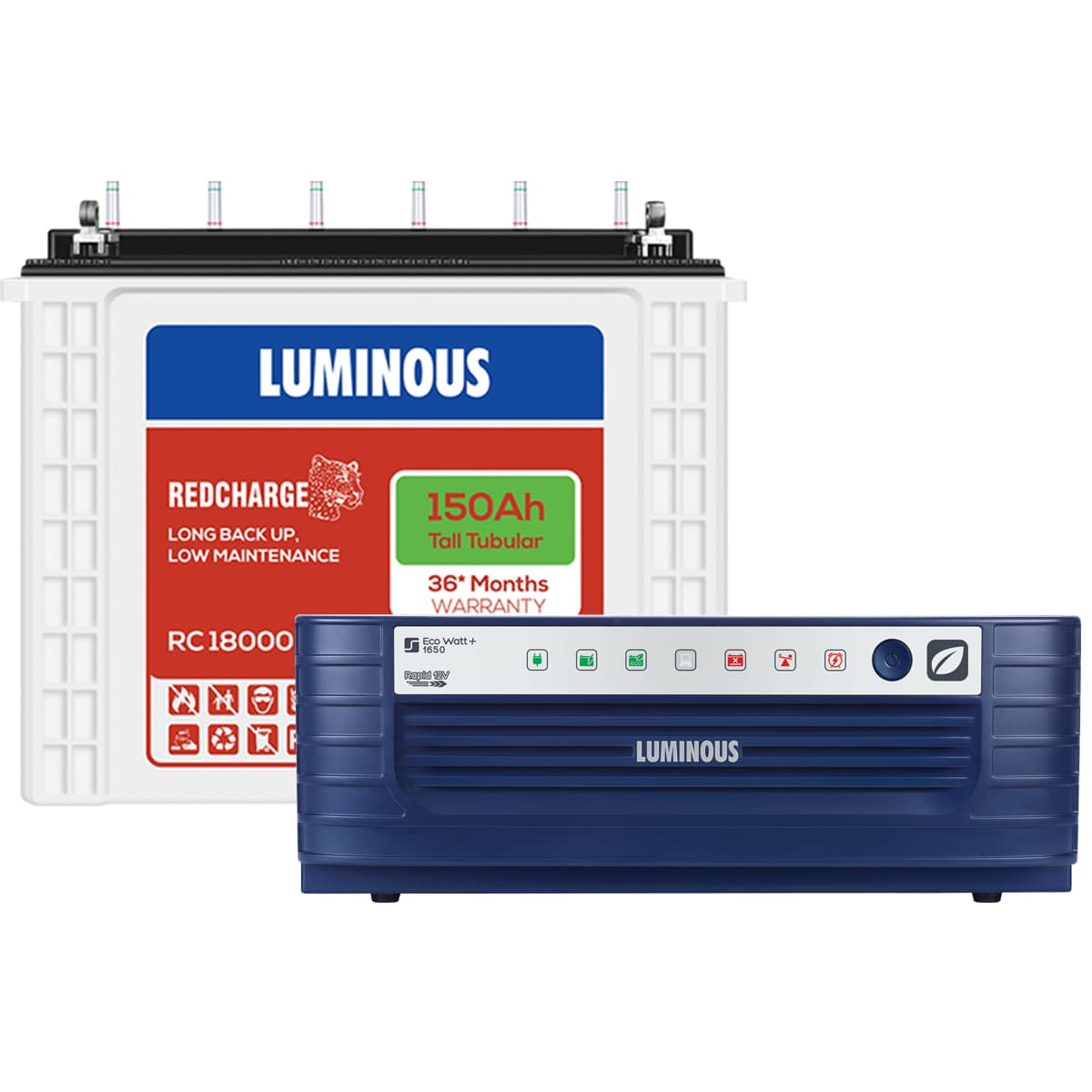 Luminous Eco Watt+ Rapid 1650 + Red Charge RC 18000