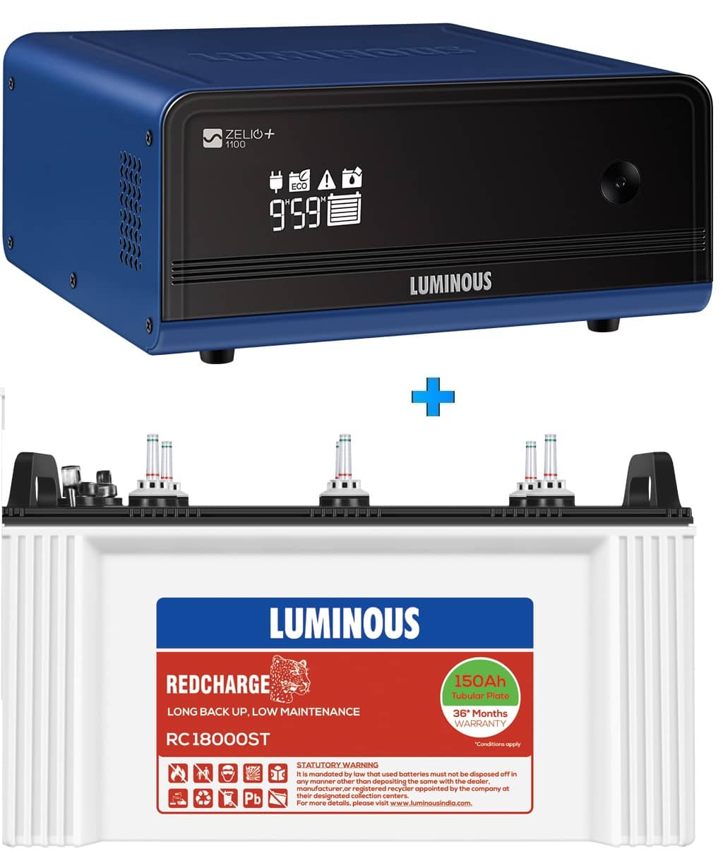 LUMINOUS ZELIO+ 1100 + RC18000ST 150AH