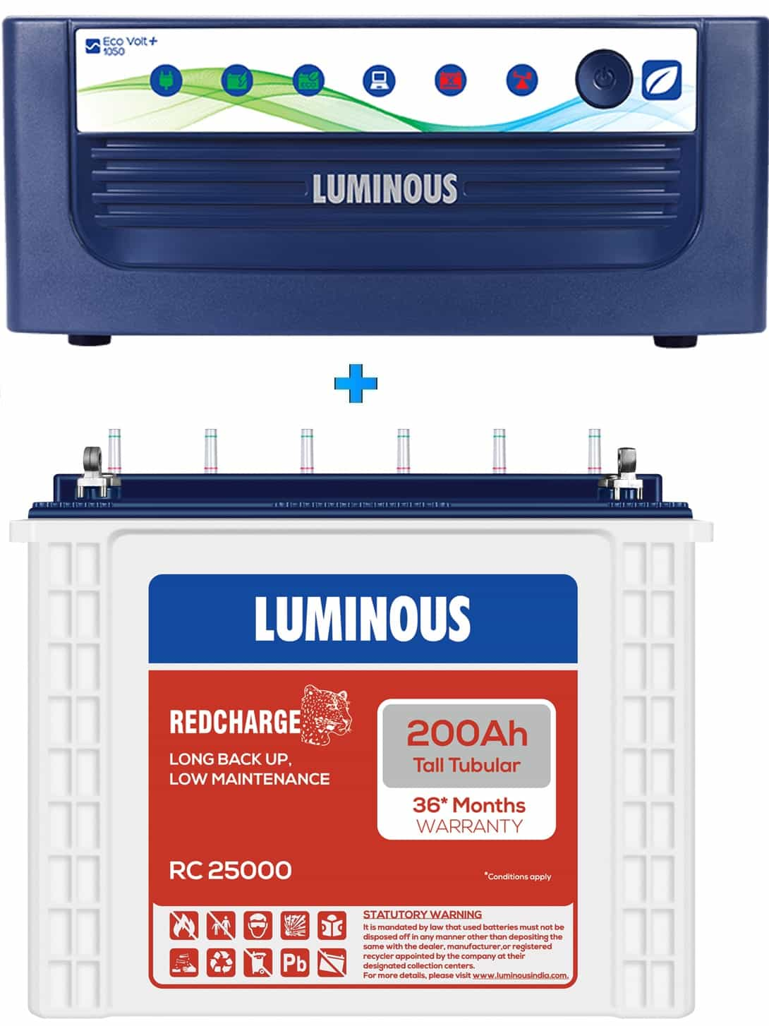 LUMINOUS ECO VOLT NEO 1050 + RC25000 200AH
