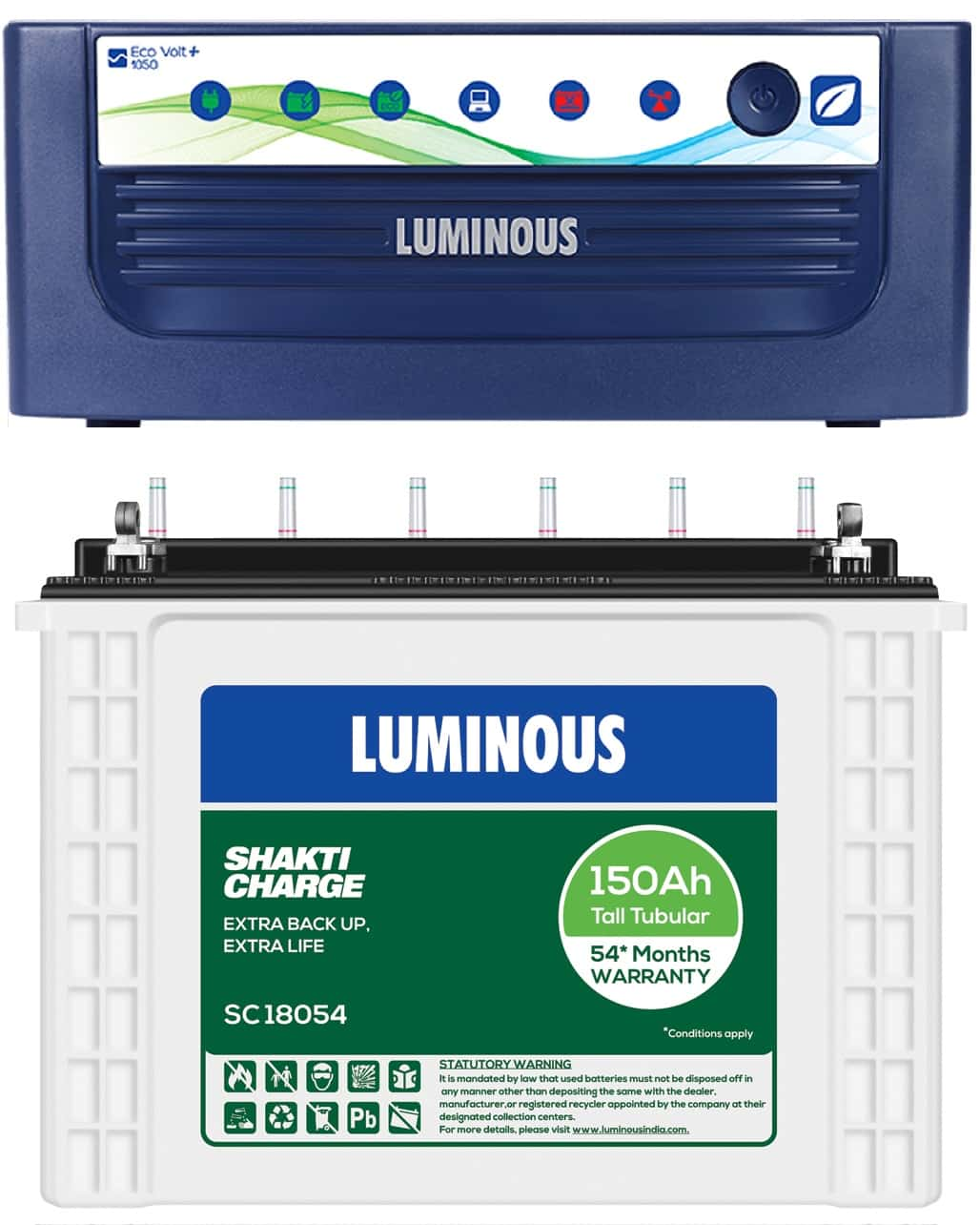 LUMINOUS 1050+ ECO VOLT + SC18054 150AH