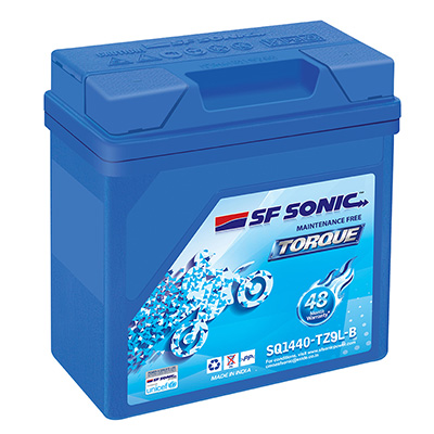 SF Sonic Torque SQ1440 TZ9L-B 9AH Battery